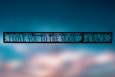 Image of I Love You To The Moon & Back Wall Art