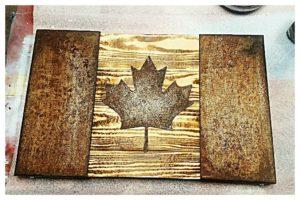 Image of Oxidized Steel Canada Flag