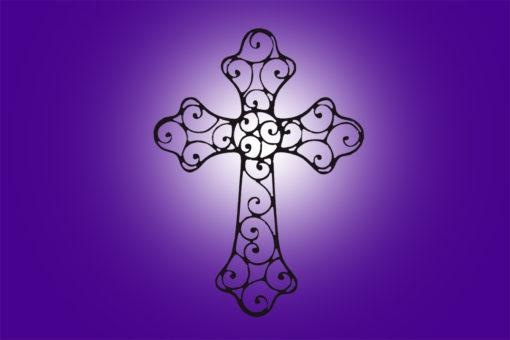 Image of Ornate Metal Wall Cross