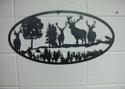 IMage of Deer Oval Scene Wall Decor