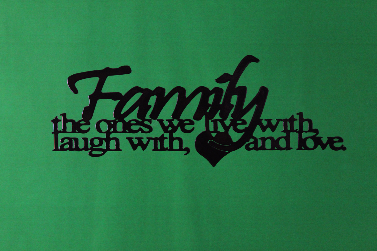 Image of Family Love Metal Wall Art