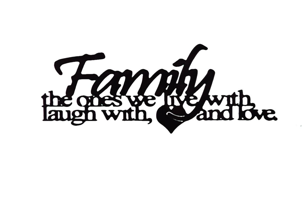 Image of Family Love Wall Art Mono