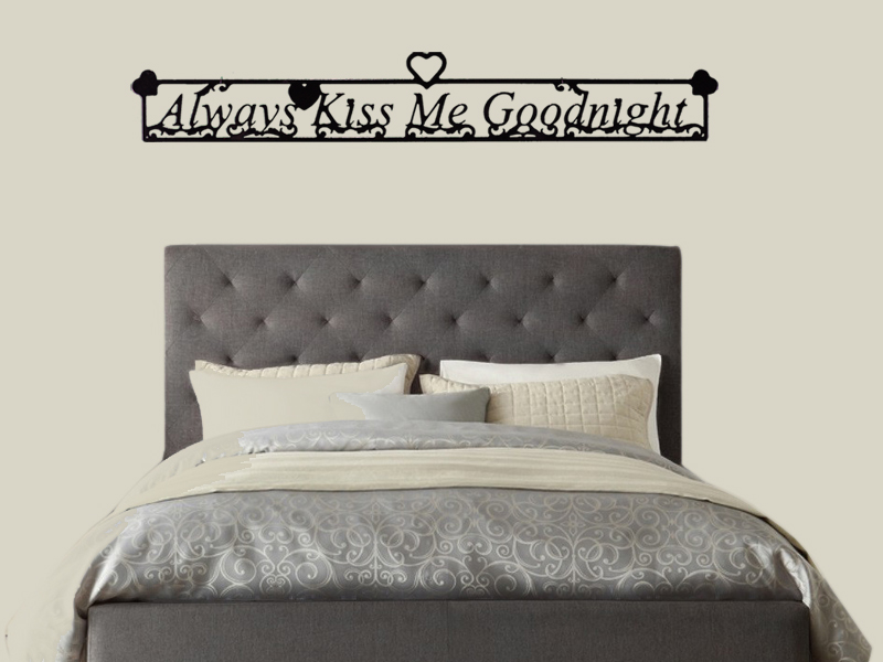 Image of Always Kiss Me Goodnight Wall Art