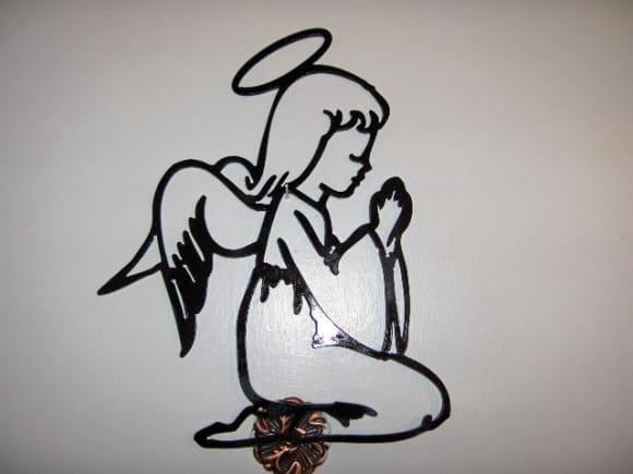 Image of Praying Angel Wall Decor
