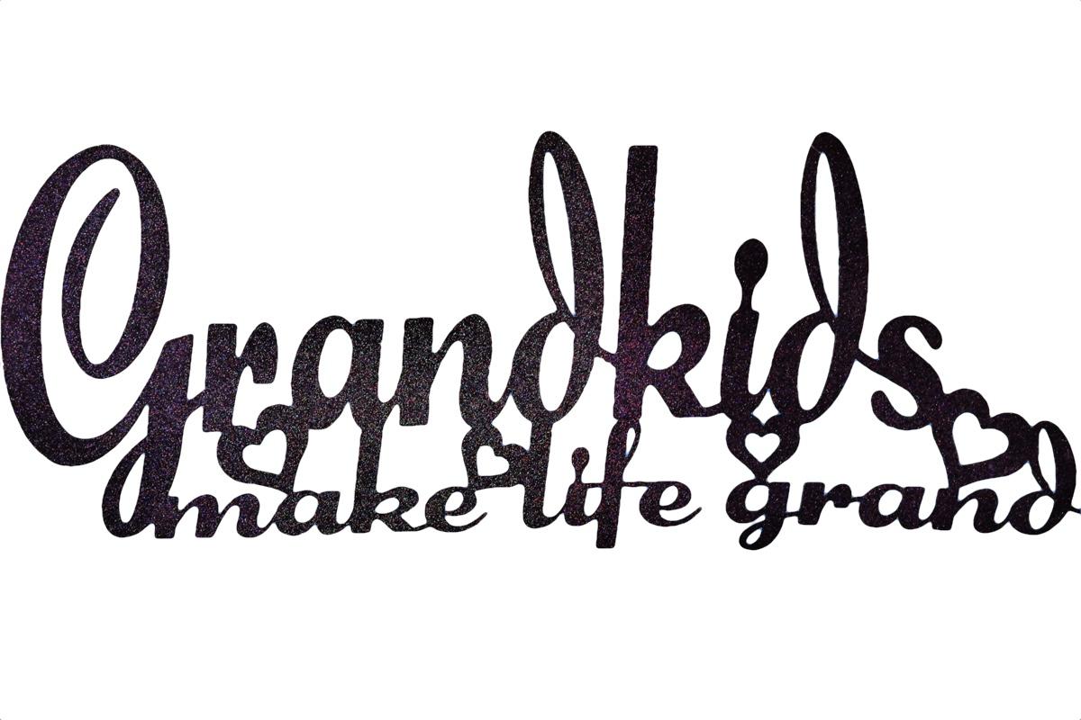 Image of Grandkids Make Life Grand Wall Art Mono